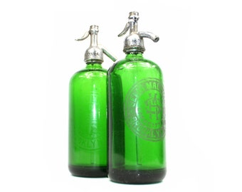 Vintage Seltzer Bottle: Green