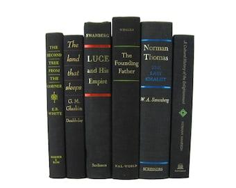 Black Home Decor Books, Decorative Books , Black Vintage Books, Home Decor , Old Books , Vintage Photo Props , Table Setting , Wedding Decor