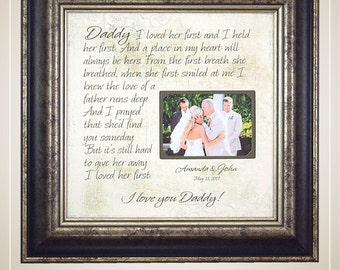 Dad Wedding Gift, Father Wedding Gift, Father Daughter Gift, Father of Bride Gift, Mother Daughter Gift, Mom Daughter, 16 X 16