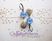 Tiny Locket Earrings / Vintage Assemblage Jewelry / Romantic Boho Earrings