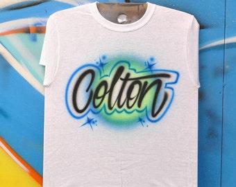 Airbrush Tshirt | Script Style
