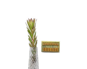 Vintage Brass Abacus Miniature Abacus Brass Abacus Paperweight Desk Accessory Gifts for Accountants