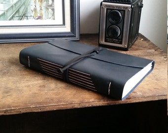 Large Leather Journal, Dark Gray Hand-Bound 6 x 9 Journal by The Orange Windmill on Etsy 1784
