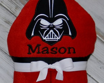 Personalized Hooded Darth Vader Towel