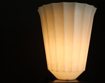 Unique 1950s Vintage GE Touchier Lamp // Fluted Shade // Retro Modern Table Lamp