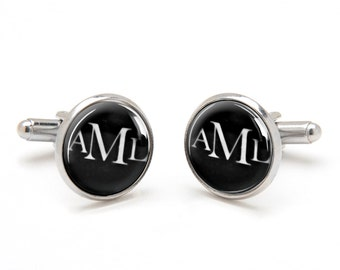 Father's Day - Gift for Dad - Monogrammed Cufflinks - Personalized Wedding Cufflinks for Groom, Groomsmen, and Best Man - Gifts for Men