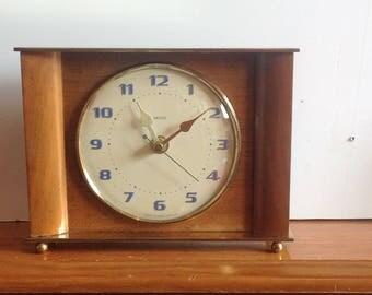 Smiths  Clock - Vintage Clock - Recycled Mantel Shelf Clock 1960's