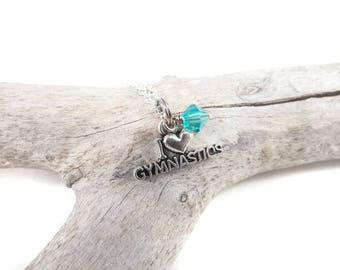 Gymnastics Necklace, Gymnastics Gifts, Gymnastics Jewelry, Gymnast Necklace, Gymnastics Gift, Gifts for Gymnast