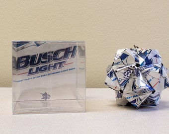 Busch Light Origami Ornament // Upcycled Recycled Repurposed // handmade keepsake // origami // gift for dad