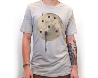 Moon Shirt | Galaxy Shirt | Moon tshirt | Men's Shirts | Full Moon | T-shirt | graphic tees for men | Astronomy shirt | Space Shirt