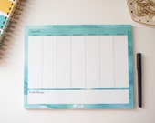 Weekly Daily Planner Notepad, To Do List, Agenda, 2017 Calendar, 8.5x11 Notepad, Mom Boss Lady Business Owner Gift, Illustrated Faith