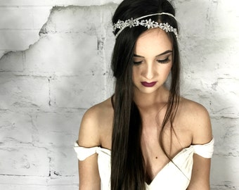 Bridal headband, Wedding headband, hair floaters, bridal Headpiece, Bridal Hair Jewelry, Bridal Hair Accessories, Crystal Headband