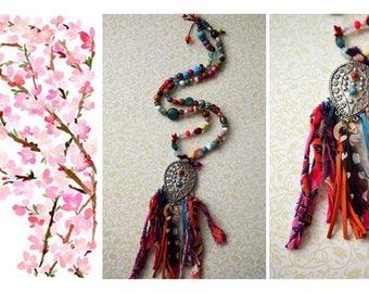 Boho Necklace, Funky Necklace, Womens Necklace, Colorful Necklace, ARTistic Necklace, Necklaces, Womens Jewelry, Jewelry, Handmade Necklace,