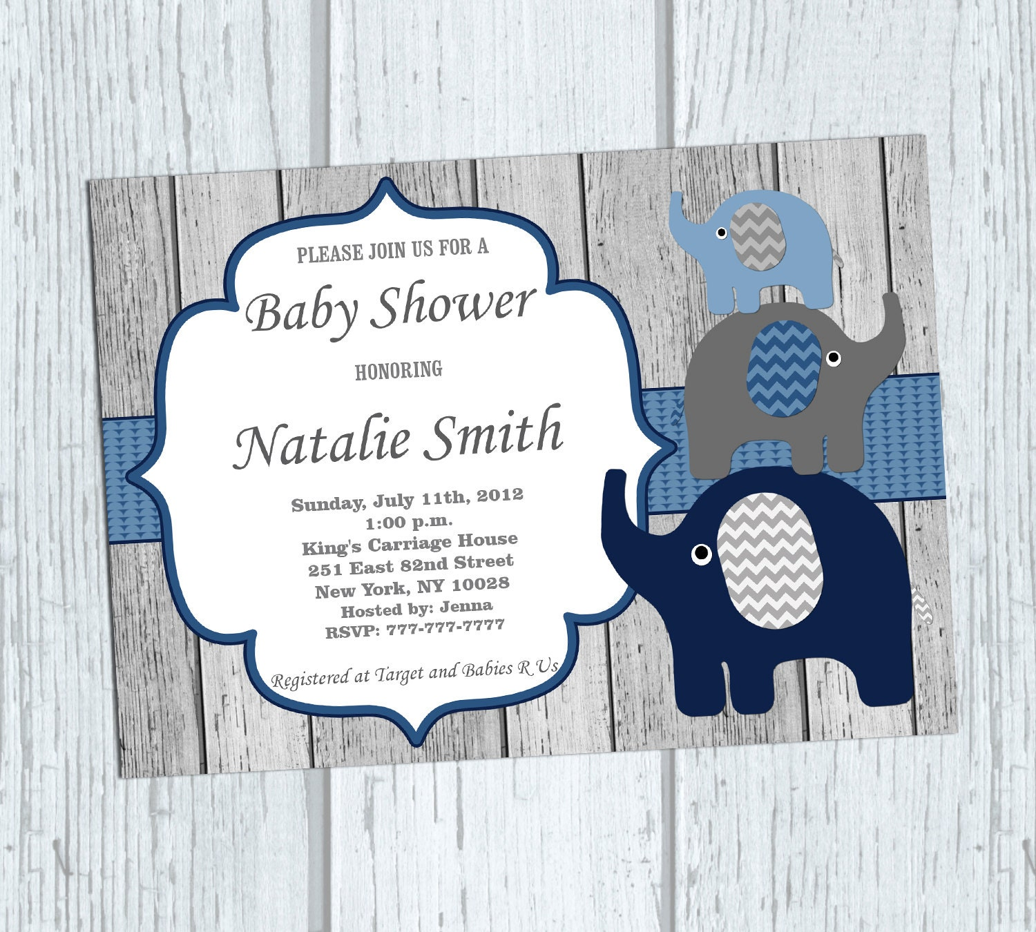 baby boy shower invitation boy elephant baby shower invitation