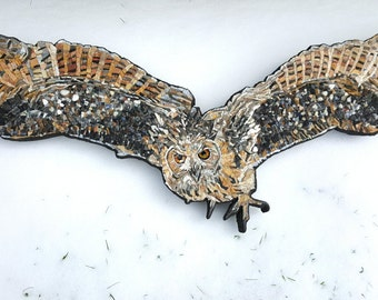ROCK EAGLE-OWL wall mosaic