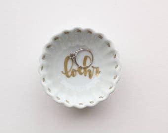 engagement ring dish, personalized engagement dish, engagement ring holder, ring holder dish, wedding ring holder, personalized ring holder