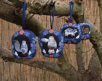 Woodland Creatures: 4 Sachets De Lavande   Lavender Bags   Cotton Fabric  Sachets Fresh Linen