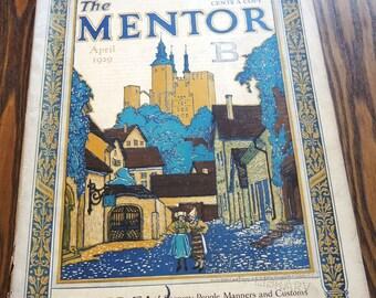 The Mentor Magazine April 1929 Vintage