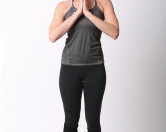 Cropped Yoga Leggings In Black