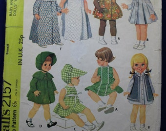 Doll's Wardrobe Sewing Pattern in Small - McCall's 2157