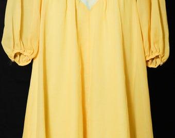 Yellow Dress -  Floral Dress - Long Ballerina Dress - Ankle Length Dress - Princess Dress Adult - Belle Dress - US size 4 UK size 8