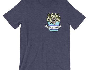 Frenchie Fries Shirt | Funny French Bulldog Shirt | French Fry Shirt | Frenchie Lover Shirt | Dog Lover Shirt | Food Lover Shirt