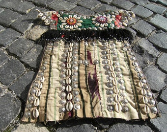 Vintage  Old  Turkoman  Tribal   Decorative  Wall  Hangings  Baby  Waistcoat 12,9'' X 18,8''  inches