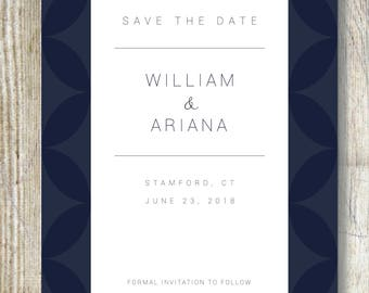 Custom Save The Date Announcement