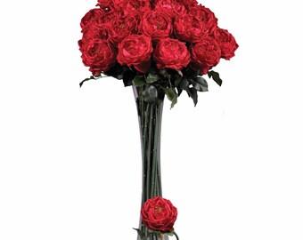 Rose Decor- Silk Rose- Rose Arrangement- Rose Bouquet- Rose Centerpiece-Silk Red Rose- Silk Pink Rose- Silk Yellow Rose- Silk White Rose-