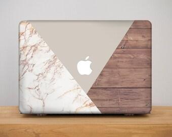 Wood Macbook Pro 13 inch Case Macbook Pro 15 inch Case Geometric Cover Macbook Pro 15 Macbook 12 Cover Macbook Air 11 Marble Mac Case MB_245