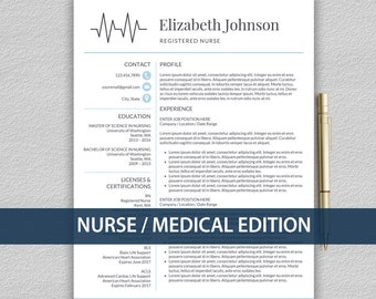 nurse resume template for word medical resume template nurse cv template rn resume - Doctor Resume Template