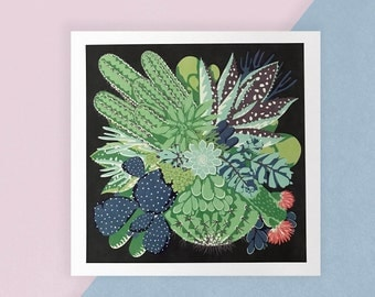 Cacti & Succulents Print