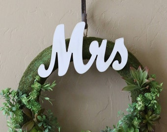 Wedding Chic Mr. and Mrs. Wreaths