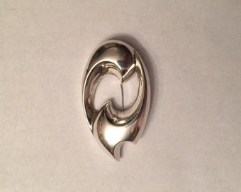 Modernist Sterling silver Brooch designed by Bayanihan