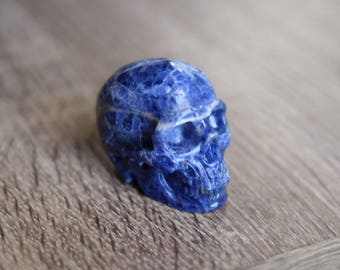 Sodalite Stone Carved Crystal Skull