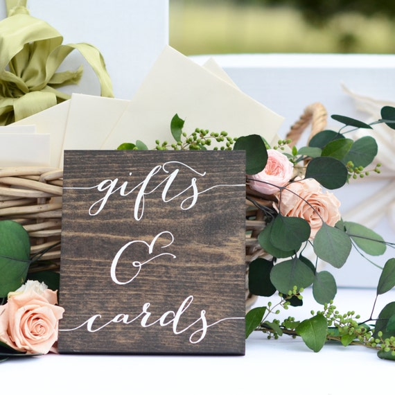 Gifts And Cards Sign Wedding Gift Table
