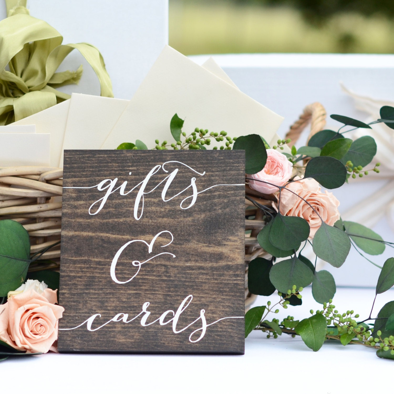 Gifts and cards sign wedding gift table sign gifts sign for Table 6 gift card