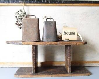 Vintage Bells, Pair Of Vintage Cow Bells, Vintage rustic bells, farmhouse bells collection, country decor.