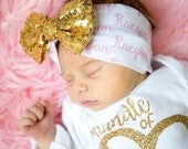 Personalized Baby Girl Headband Birthday Baby Girl Headband Sequin Bow Baby Hair Bow Turban Newborn to Toddler Sizes - CUSTOMIZE IT!