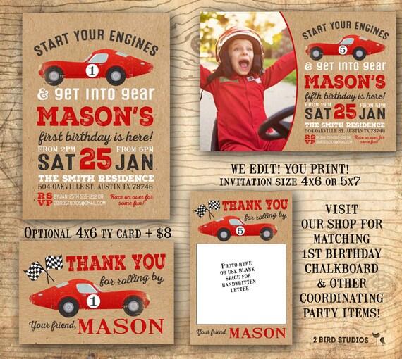Race car invitations race car birthday invitations 1st birthday il570xn filmwisefo