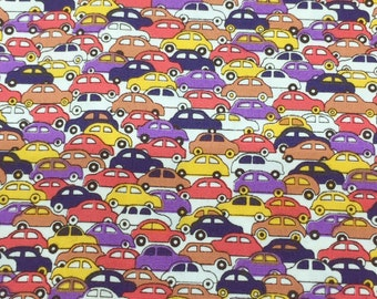 CAR COTTON FABRIC, 100% Cotton Fabric by yard, fat quarter, half yard, yard