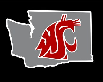 WSU Decal | Washington State University Decal | WSU Cougars Sticker | Go Cougs