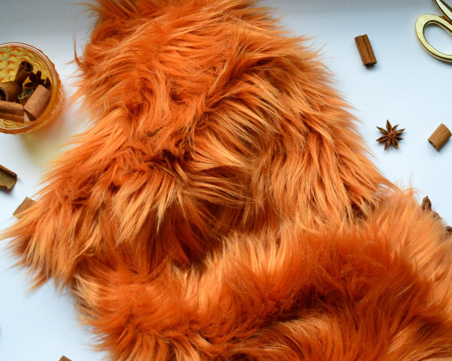 Amber faux fur cosplay fox fur craft squares fox fur fox for Furry craft