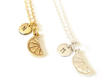 Inspiration Necklace, Lemon Necklace, Orange Necklace, Fruit Jewelry, Personalized Jewelry, Motivational Jewelry, Encouragement Gifts