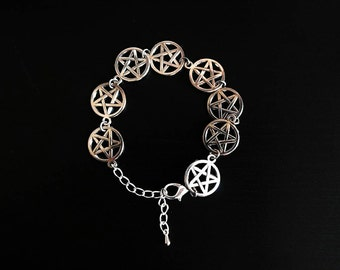 Pentagram goth gothic bracelet