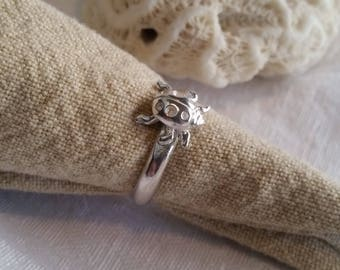 Sterling Silver Lady Bug Ring