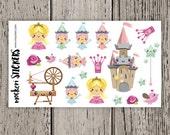 19 Sleeping Beauty Stickers / Erin Condren Planner Stickers / Stickers