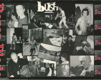 Bush Band Gavin Razor Blade Collage 1996 Rare Poster
