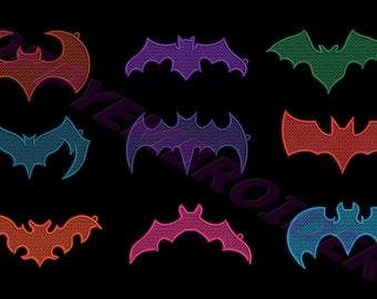 FSL bat embroidery machine  designs  / chauve souris fsl pour broderie machine / INSTANT DOWNLOAD