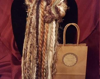 Hand Crafted Yarn Scarves (Browns/ Fall Colors)